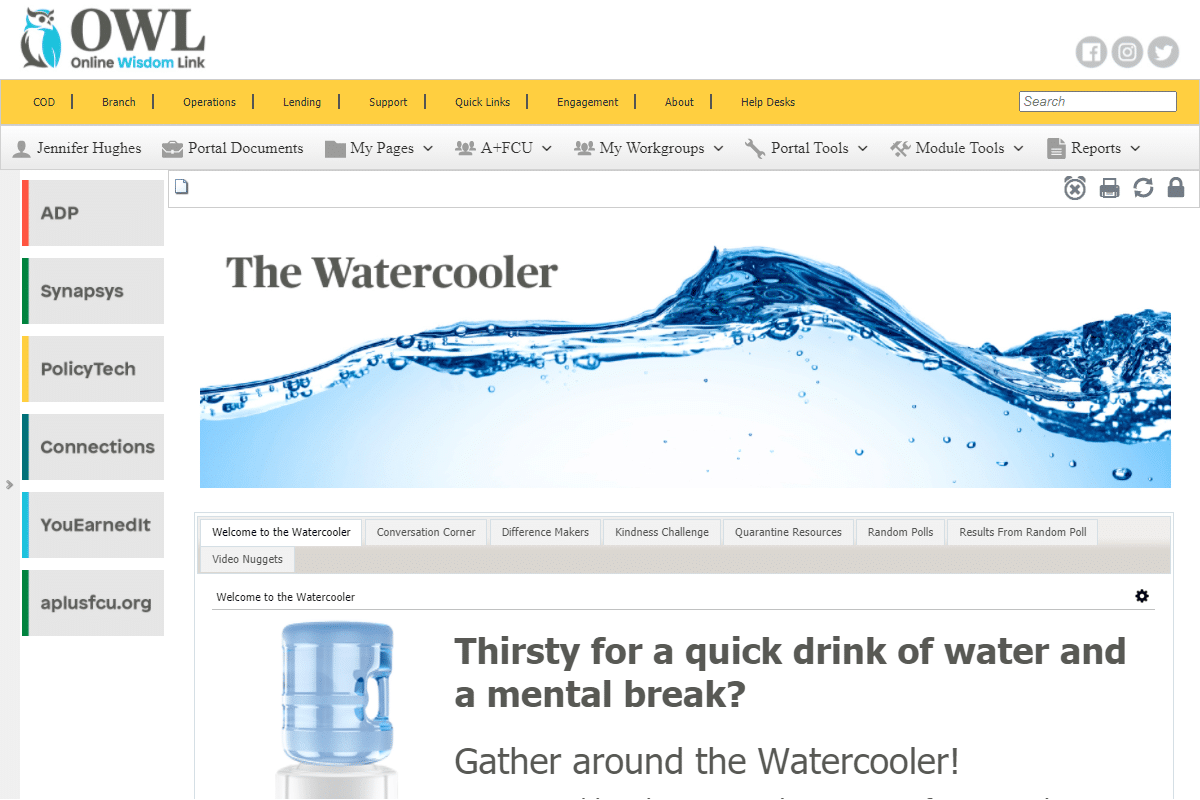 owl the water cooler best practices for successful intranets