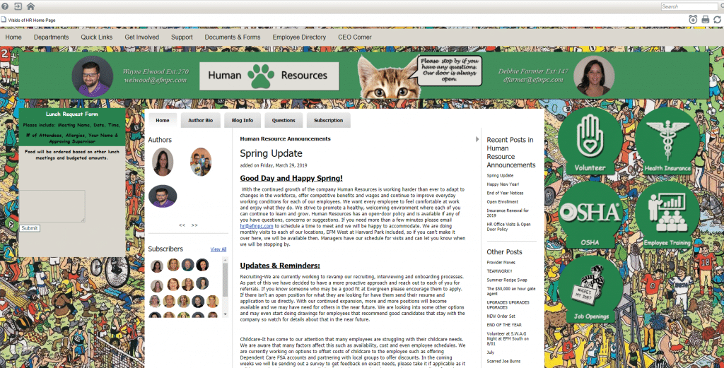 Evergreen Family Medicine Human Resources Page
